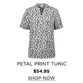 Petal print short sleeve tunic